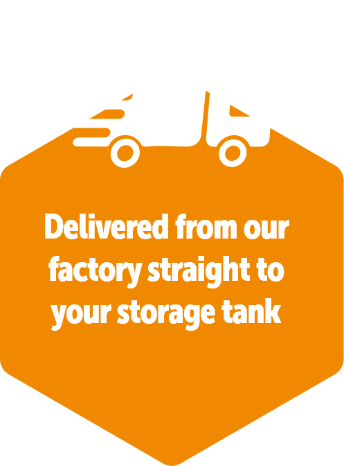 delivered from our factory, straight to your storage tank